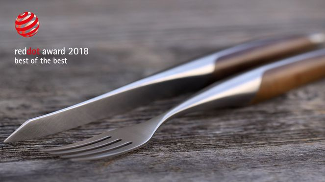 sknife steak cutlery with Red Dot Design Award 2018 Best of the Best