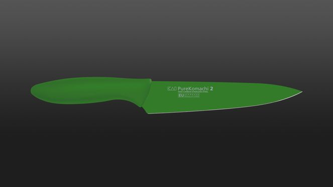 green utility knife of the series Pure Komachi - for daring colours in the kitchen