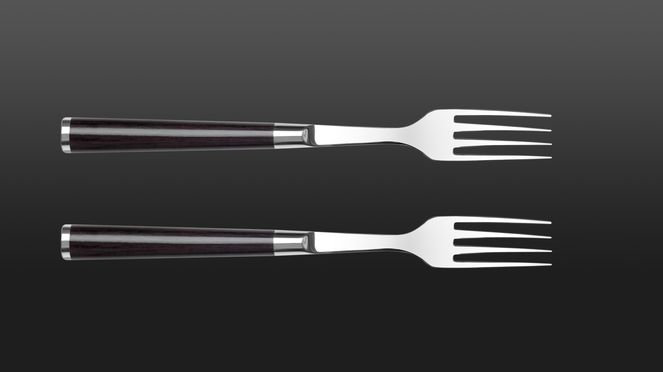 2-piece steak fork set goes well together with the steak knives