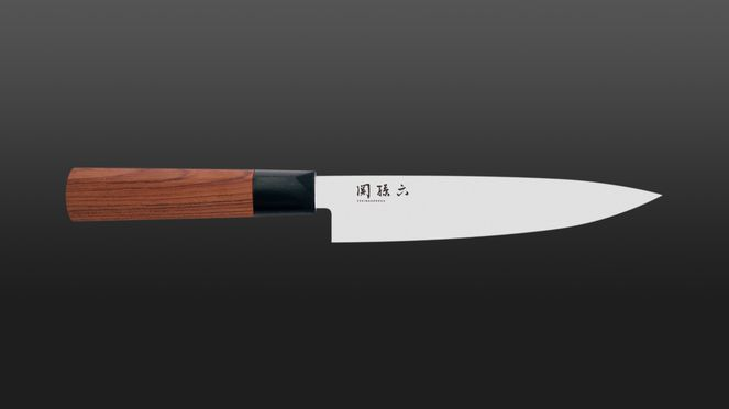 The utility knife Red Wood is characterized by its handle made from Red Wood
