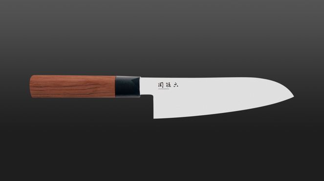 Red Wood Santoku - the Japanese chef's knife