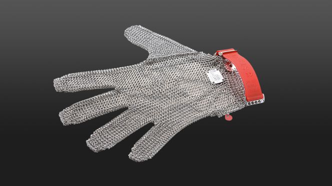 The chain glove M is cut and stitch proof