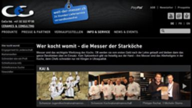 New design for welt-der-messer.ch