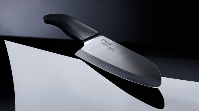 The black ceramic knife is the favoured knife of many cooks