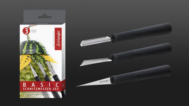 carving tool set basic with the 3 most important carving tools