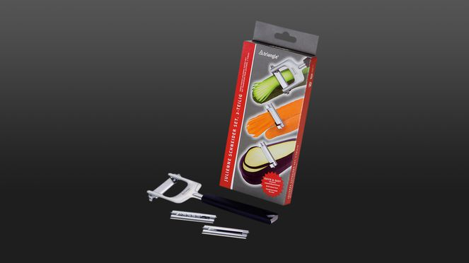 The julienne set is the perfect tool for a quick and easy working