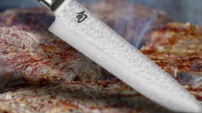 With thesteak knives set Shun Premier every steak can perfectly be cut