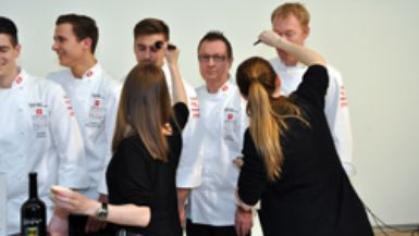 Making of fotoshooting culinary junior national team and Swiss culinary national team