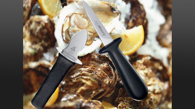 The triangle® oyster opener is easy to handle