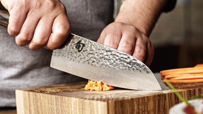Shun Premier Santoku for meat, fish and vegetables