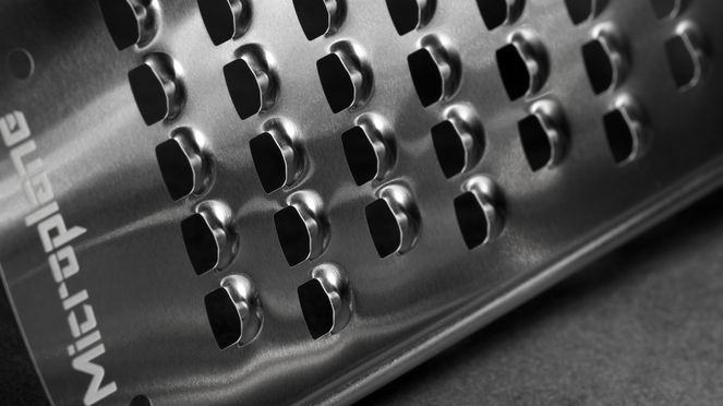 Cheese grater blade detail