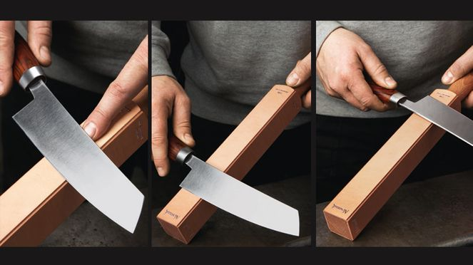 Knife Academy: knife sharpening with leather strop