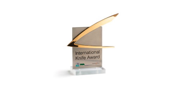 Nesmuk knives such as the full damask chef's knife honoured with Int. Knife Award