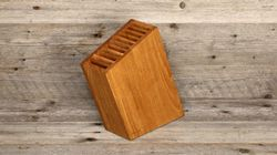 knife block swiss wood