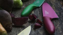 Kai knives, pink chef's knife