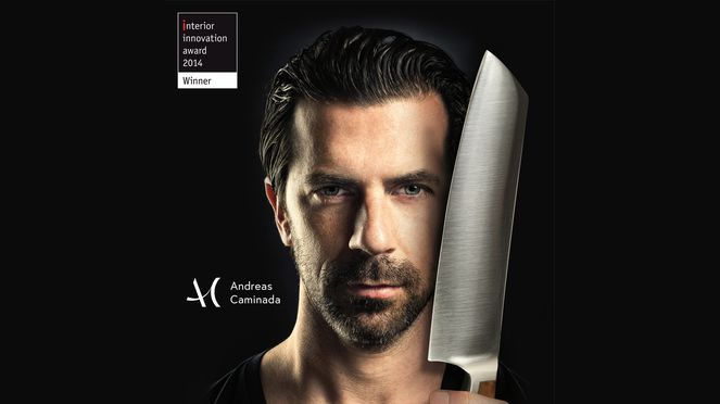 Andreas Caminada with Caminada Santoku interior innovation award 14