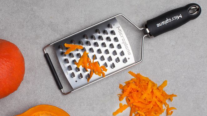 Rösti rasp is also ideal for grating pumkin