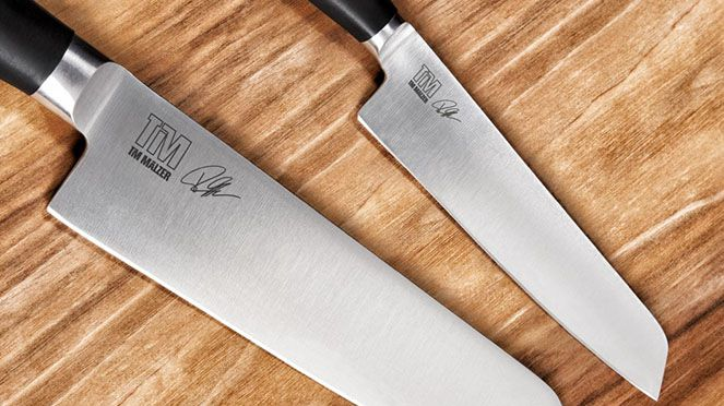 Kamagata Hybride Chef's Knife with office knife