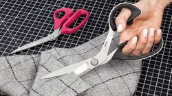 textile, serrated scissors