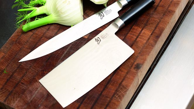 Chinese chef's knife with ham slicer